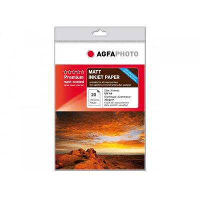 AGFAPHOTO FOTOPAPIER A4 220GR 20 VEL (AP22020A4MDUO)