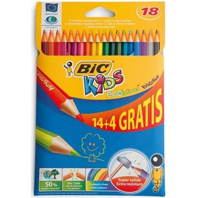 BIC KIDS KLEURPOTLODEN 14+4 GRATIS