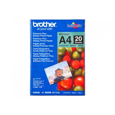 BROTHER FOTOPAPIER A4 260GR 20 VEL (BP71GA4)
