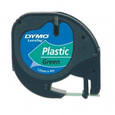 DYMO LETRATAG TAPE PLASTIC GROEN