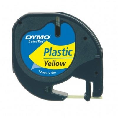 DYMO LETRATAG TAPE PLASTIC GEEL