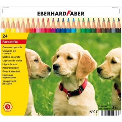 EBERHARD FABER KLEURPOTLODEN 24 ST